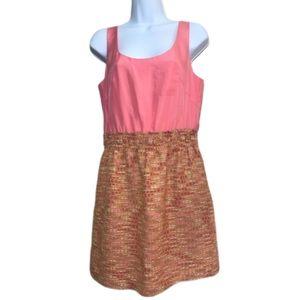 J.Crew Pink and Cream Size 4 Sheath Mini Dress